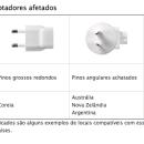 Apple anuncia recall de seus adaptadores de tomada