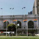 Bill Graham Civic Auditorium e Moscone Center já estão sendo decorados para a WWDC