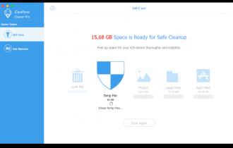 Faça uma limpeza completa em seu iPhone ou iPad com o iCareFone Cleaner