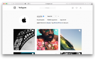 Apple cria conta oficial no Instagram