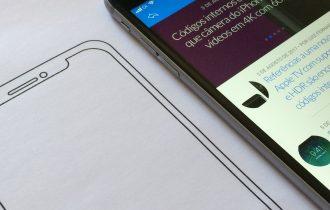 Compare o tamanho do iPhone 8 com os modelos atuais imprimindo este modelo de papel