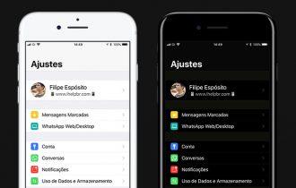 """WhatsApp agora é compatível com """"tema escuro"""" do iOS 11"""
